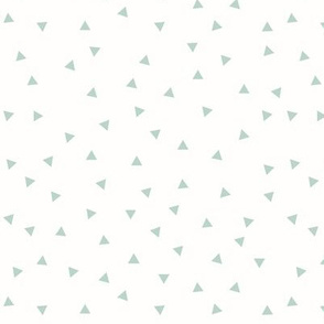 Tiny triangles - mint on white geometric