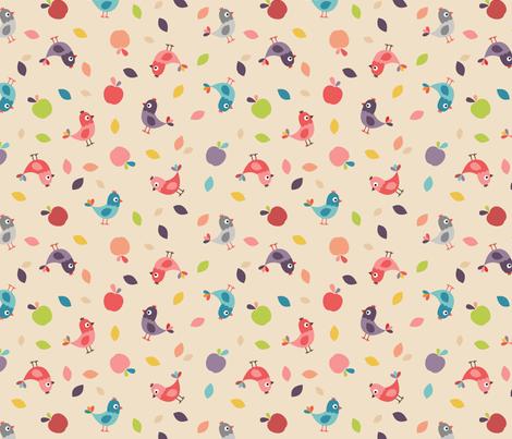 oiseaux fabric by la_fabriken on Spoonflower - custom fabric