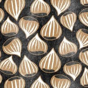 Roasting Chestnuts- Brown on Black