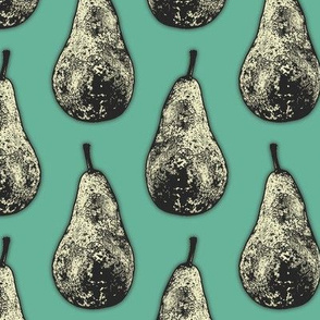 Pears on Green