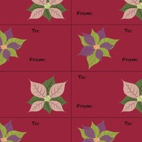 Traditional Poinsettia Gift Tags