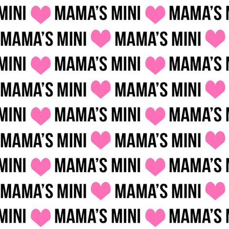mama's mini girls name fabric cute text font fabric cute girls design fabric by charlottewinter on Spoonflower - custom fabric