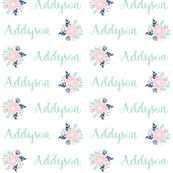 personalized custom name fabric cute names design