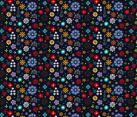Flowers fabric by agathests on Spoonflower - custom fabric