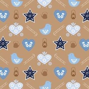 Alpine Chalet in Warm Tan // Winter/Scandanavian Folk/Kitsch Design - by Zoe Charlotte