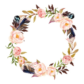 Hello Beautiful Wreath - Blanket