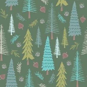 Wild Adventures - Woods on Green
