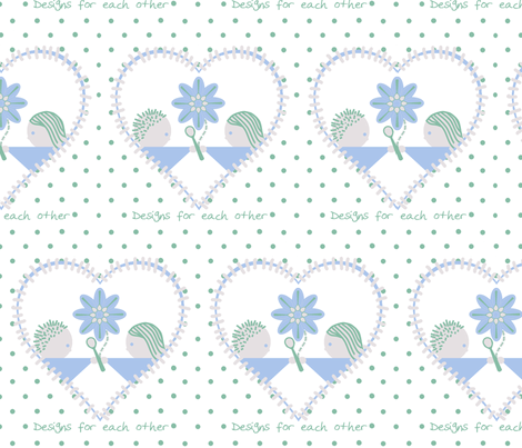 The heart of Spoonflower! fabric by squeakyangel on Spoonflower - custom fabric