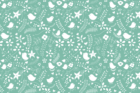 Birds meeting 3 fabric by agathests on Spoonflower - custom fabric