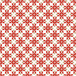 Poinsettia Geometric Small