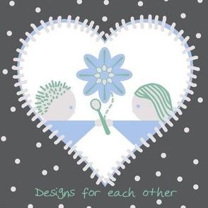 White spoonflower heart