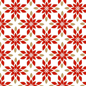 Poinsettia  Geometric Medium