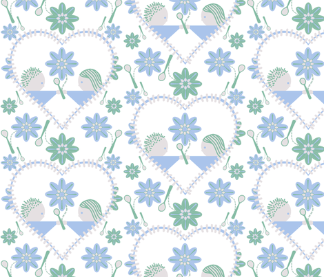 Spoonflower's heart fabric by squeakyangel on Spoonflower - custom fabric