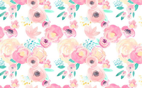INDY BLOOM BLUSH BABY B fabric by indybloomdesign on Spoonflower - custom fabric