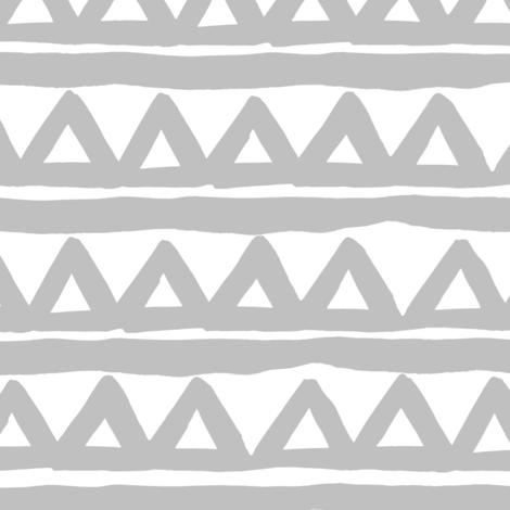 Safari triangle - Grey and White fabric by shopcabin on Spoonflower - custom fabric