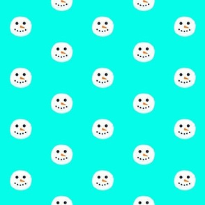Snowman Face - small print