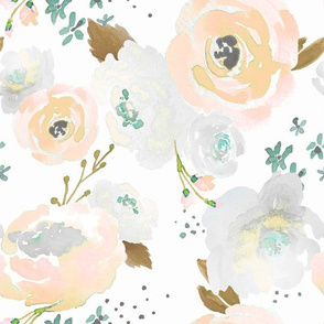 Indy Bloom Design Peachy Grey florals B