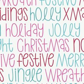 Christmas Words-Pink