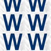 Blue W Cubs Win Fabric