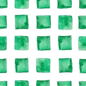 Watercolor block in green color