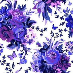 Blue Velvet - White