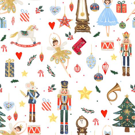 "8"" Winter Dreams Nutcracker / Toy Soldier 8 "" fabric by shopcabin on Spoonflower - custom fabric"