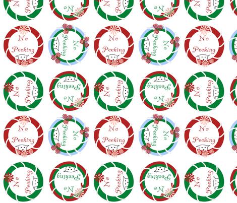 No Peeking Christmas Cats fabric by pamelachi on Spoonflower - custom fabric