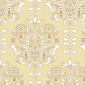 Stitcher's Damask in Tan