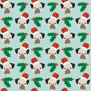 pug christmas fabric pug dogs fabric cute christmas santa paws fabric cute dog design