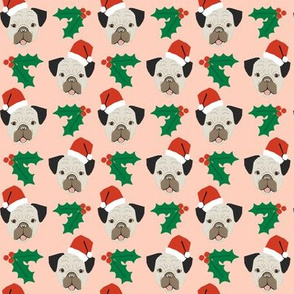 pug christmas fabric pug dog fabric christmas design cute xmas holiday christmas fabric santa paws christmas fabric