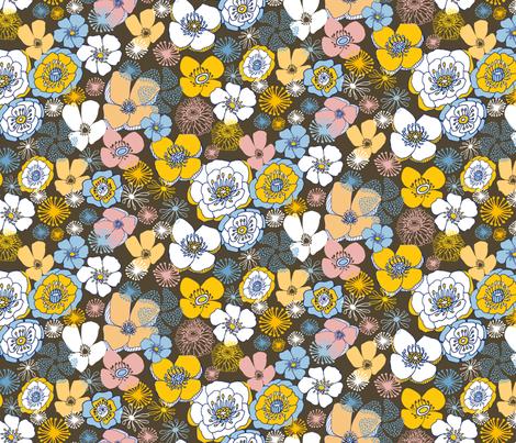 Fleur des Champs Blush fabric by kirstenkatz on Spoonflower - custom fabric