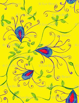 Yellow Vine Floral