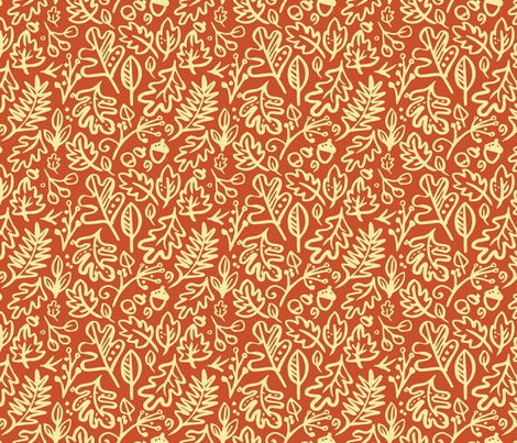 leaves-fall_bright fabric by leticia_plate on Spoonflower - custom fabric