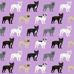 frenchies dog fabric french bulldog fabric cute frenchies dog fabric purple fabric
