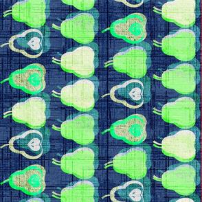 Bright pears Tea towel