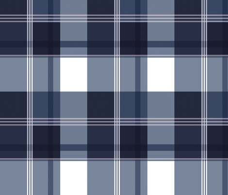 Navy Blue Plaid fabric by laurapol on Spoonflower - custom fabric