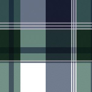 Navy & Green Plaid