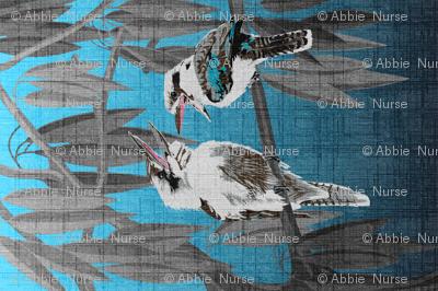 Kookaburras tell the best jokes Tea Towel (linen look)