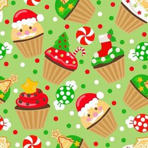 Christmas Cupcake - Green