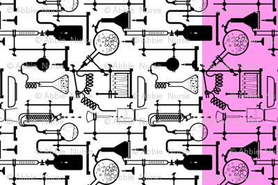 Kitchen chemistry Tea Towel, pink