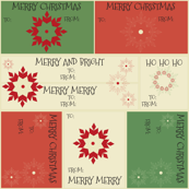 Poinsettia Christmas Labels