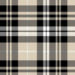 fall plaid || tan, black, white