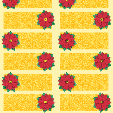 Bubbly Poinsettia Cards fabric by elramsay on Spoonflower - custom fabric
