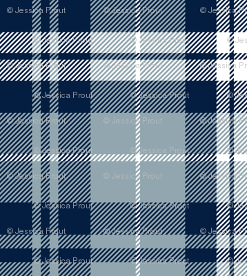 fall plaid || navy, rustic woods blue, white
