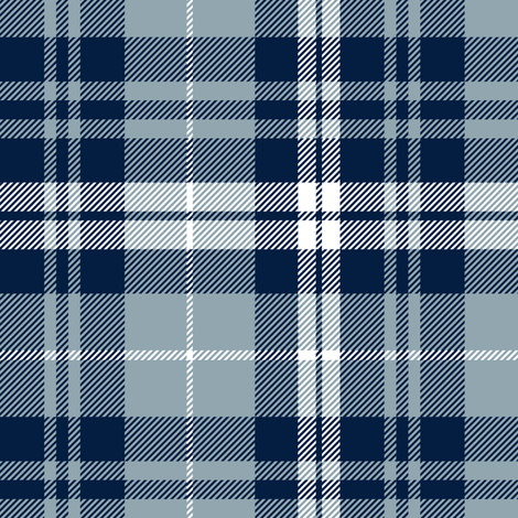 fall plaid || navy, rustic woods blue, white fabric by littlearrowdesign on Spoonflower - custom fabric
