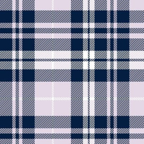 fall plaid || navy,light lilac