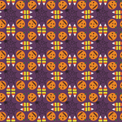 Halloween Pumpkin and Candy Corn Print