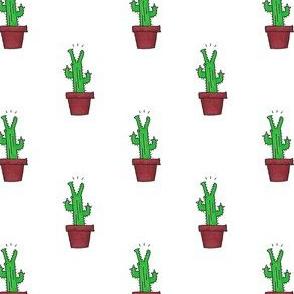 Cactus Crocs - White