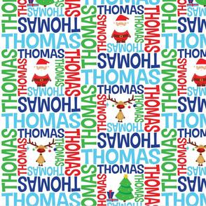 personalised name design - spiral christmas
