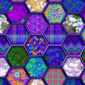 METALLIC MIX HEXIES 3D PURPLE
